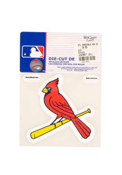 St Louis Cardinals 4x4 Perfect Cut Auto Decal - Red
