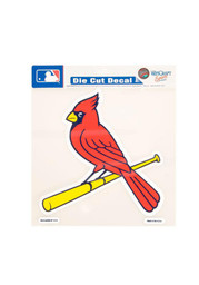 St Louis Cardinals 8x8 Perfect Cut Auto Decal - Red