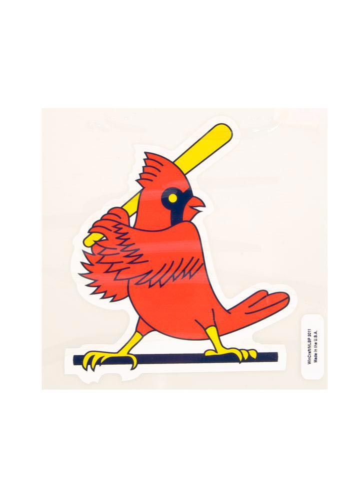 St Louis Cardinals 8x8 Vintage perfect Cut Auto Decal - Red - Image 1