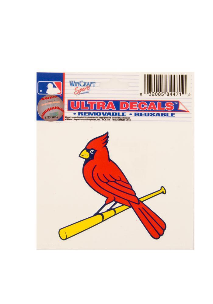 St Louis Cardinals 3x4 Multi Use Auto Decal - Red - Image 1