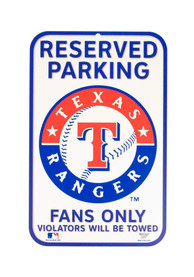 Texas Rangers Reserved Parking Sign
