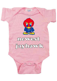Kansas Jayhawks Baby Pink Newest One Piece