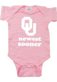 Oklahoma Sooners Baby Pink Newest Sooner One Piece