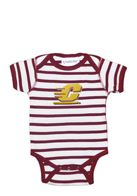 Central Michigan Chippewas Baby Maroon Stripe One Piece