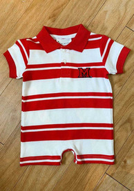 Miami Redhawks Baby Red Rugby Polo One Piece