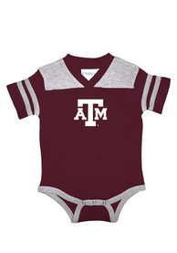 Texas A&M Aggies Baby Maroon Football One Piece
