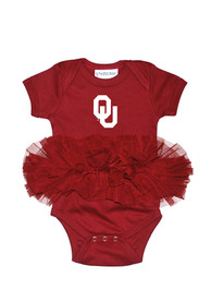 Oklahoma Sooners Baby Crimson Tutu One Piece
