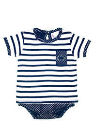 Penn State Nittany Lions Baby Navy Blue Pin Dot One Piece