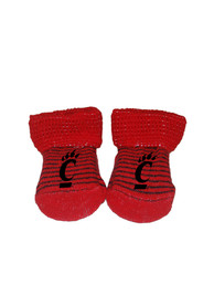Cincinnati Bearcats Baby Striped Bootie Boxed Set - Red