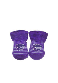 K-State Wildcats Baby Striped Bootie Boxed Set - Purple
