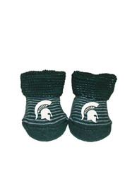 Michigan State Spartans Baby Striped Bootie Boxed Set - Green