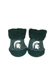 Michigan State Spartans Striped Baby Bootie Boxed Set