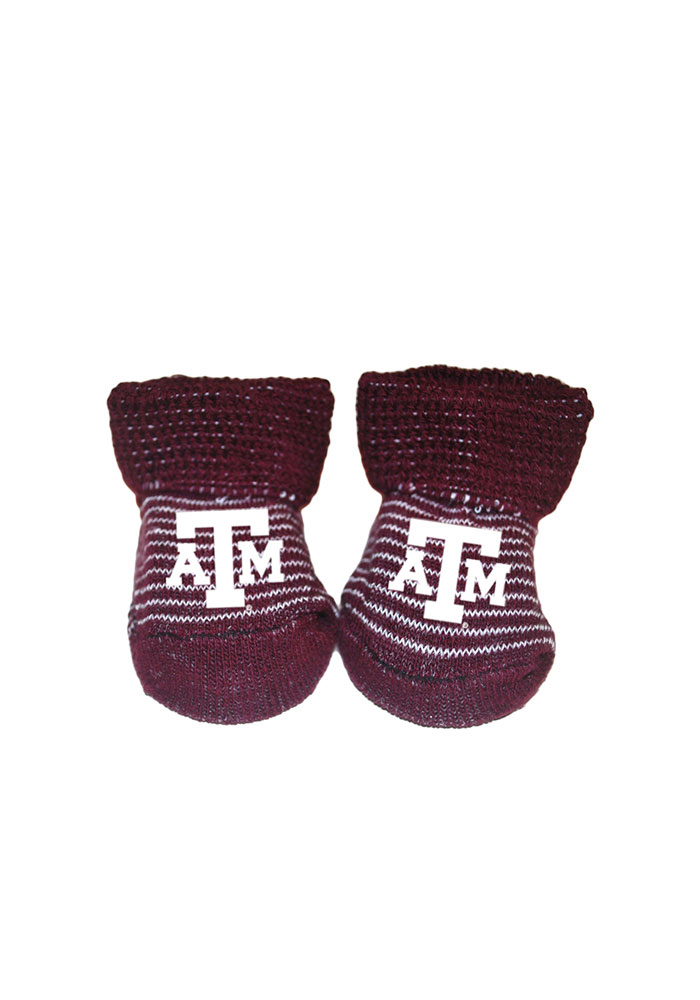 Texas A&M Aggies Striped Baby Bootie Boxed Set - Image 1
