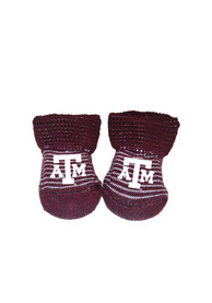 Texas A&M Aggies Baby Striped Bootie Boxed Set - Maroon
