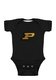 Purdue Boilermakers Baby Black Lap Shoulder One Piece