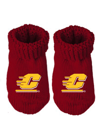 Central Michigan Chippewas Baby Team Color Bootie Boxed Set - Crimson