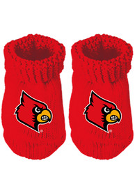 Louisville Cardinals Baby Team Color Bootie Boxed Set - Red