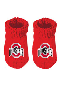 Ohio State Buckeyes Baby Team Color Bootie Boxed Set - Red