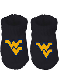 West Virginia Mountaineers Baby Team Color Bootie Boxed Set - Navy Blue