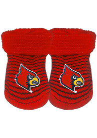 Louisville Cardinals Baby Stripe Bootie Boxed Set - Red