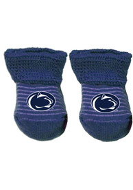 Penn State Nittany Lions Baby Stripe Bootie Boxed Set - Navy Blue