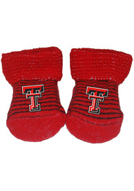 Texas Tech Red Raiders Baby Stripe Bootie Boxed Set - Red