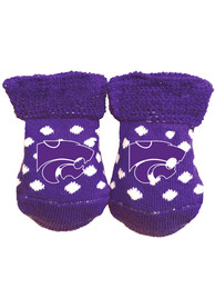 K-State Wildcats Baby Polka Dot Bootie Boxed Set - Purple
