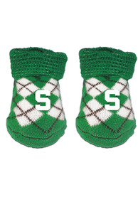 Michigan State Spartans Baby Argyle Bootie Boxed Set - Green