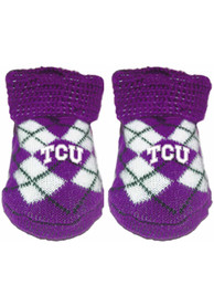 TCU Horned Frogs Baby Argyle Bootie Boxed Set - Purple