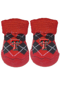 Texas Tech Red Raiders Baby Argyle Bootie Boxed Set - Red
