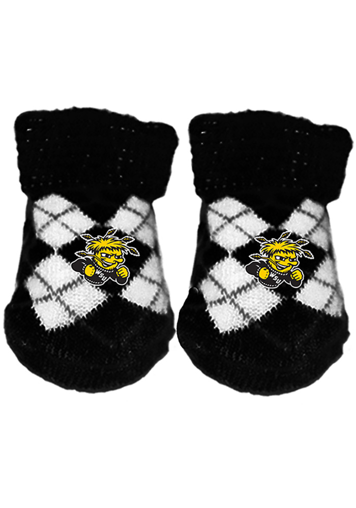 Wichita State Shockers Argyle Baby Bootie Boxed Set - Image 1