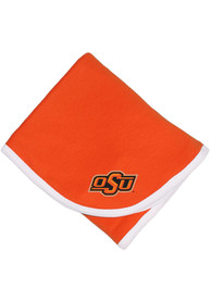 Oklahoma State Cowboys Baby Team Color Blanket - Orange
