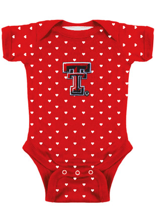 Texas Tech Red Raiders Baby Red Heart Creeper