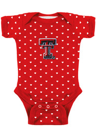 Texas Tech Red Raiders Baby Red Heart One Piece