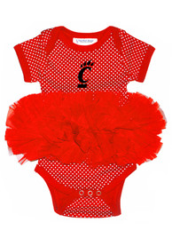 Cincinnati Bearcats Baby Red Pin Dot Tutu One Piece