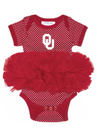 Oklahoma Sooners Baby Crimson Pin Dot Tutu One Piece