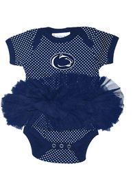 Penn State Nittany Lions Baby Navy Blue Pin Dot Tutu One Piece