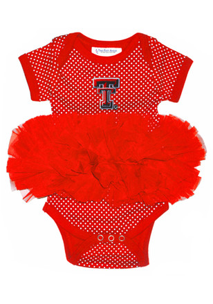 Texas Tech Red Raiders Baby Red Pin Dot Tutu Creeper
