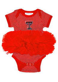 Texas Tech Red Raiders Baby Red Pin Dot Tutu One Piece
