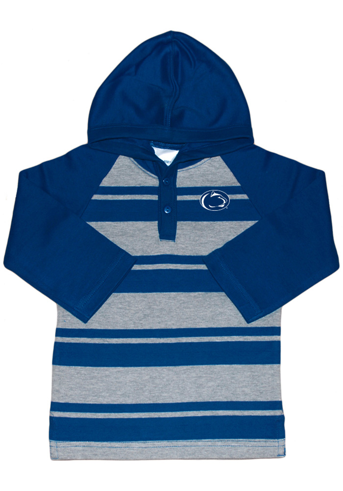 Penn State Nittany Lions Toddler Navy Blue Rugby Stripe Long Sleeve Hooded Sweatshirt - Image 1