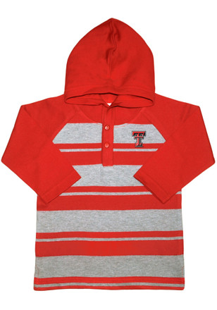 Texas Tech Red Raiders Toddler Red Rugby Stripe Hooded Sweatshirt