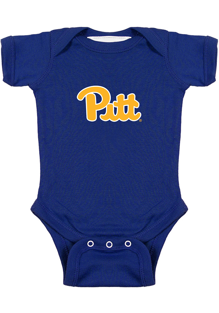 Pitt Panthers Baby Blue Bailey Short Sleeve One Piece - Image 1