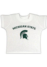 Michigan State Spartans Toddler White Arch Mascot Short Sleeve T-Shirt