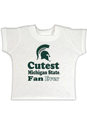 Michigan State Spartans Toddler White Cutest Fan Short Sleeve T-Shirt