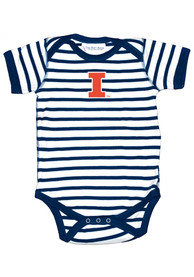 Illinois Fighting Illini Baby Skylar One Piece - White