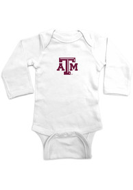 Texas A&M Aggies Baby Embroidered Logo One Piece - White