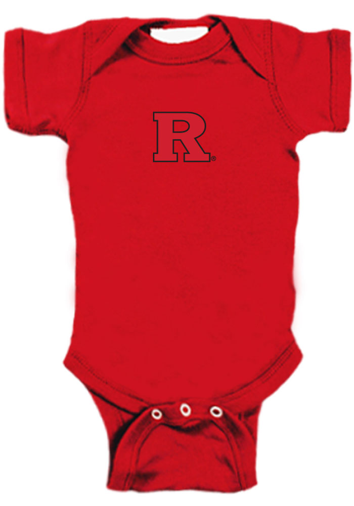 Rutgers Scarlet Knights Baby Red Bailey Short Sleeve One Piece - Image 1