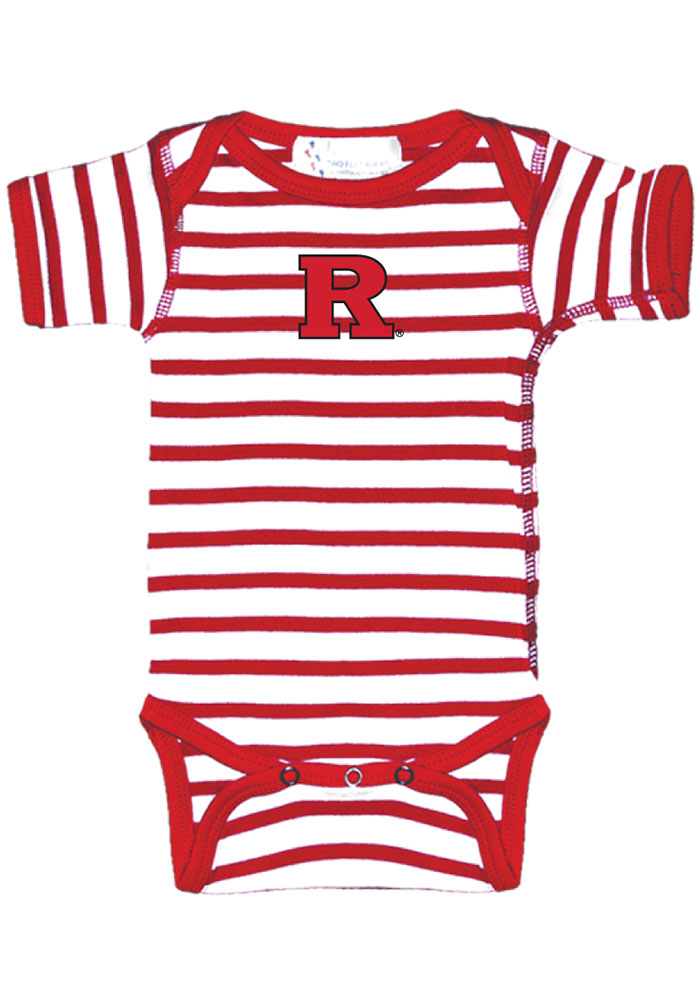 Rutgers Scarlet Knights Baby Red Skylar Short Sleeve One Piece - Image 1