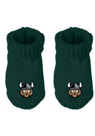 Cleveland State Vikings Baby Knit Bootie Boxed Set - Green
