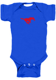 SMU Mustangs Baby Bailey One Piece - Blue